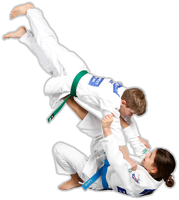 Kinder Judowurf